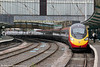 A newly extended 11-car Pendolino calls at Carlisle forming 1M10, 0940 Glasgow Central to London Euston on 4th August 2012.