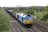 60074 'Teenage Spirit' passes Coedkernew with 6H27, 1455 Margam to Llanwern on 6th May 2012.