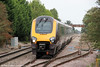 1V50, the 0606 Edinburgh Waverley to Plymouth  in the form of an unidentified class 220 passes Ashchurch on 1st September 2012.