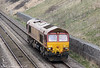 66134 at Standish on 22nd March 2012. The loco was making its way to Didcot and would later work 4L40, 1642 Morris Cowley to Purfleet.