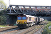 66057 enters the station area at Newport with an Aberthaw Power Station to Avonmouth working on 29th March 2012.