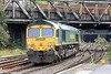 66622 runs light through Newport from Cardiff Canton to Stoke Gifford on 15th August 2012.