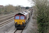 66131 at Magor with  6V05, 0910 Round Oak to Margam on 21st March 2012.