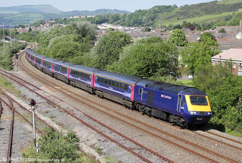 43003 'Isambard Kingdom Brunel' passes Briton Ferry with 1L76, 1528 Swansea to London Paddington on 29th May 2012.
