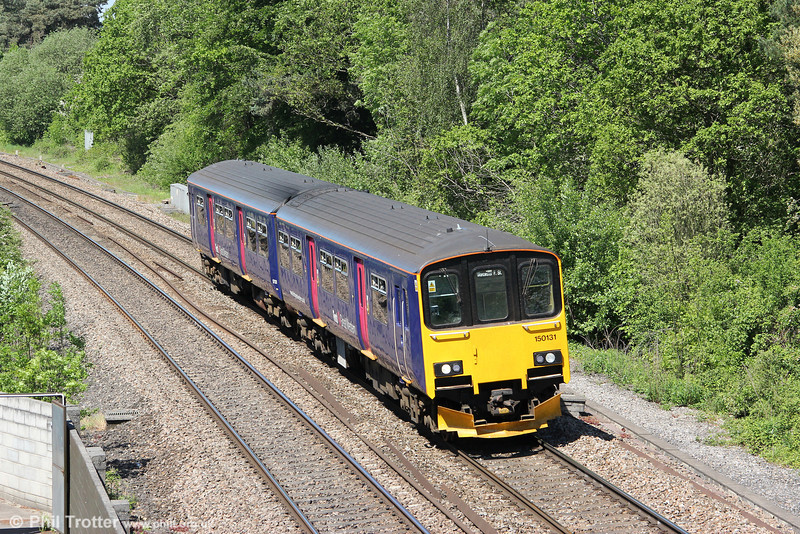 FGW's 150131 ambles past Ram Hill forming 2M97, 0827 Southampton to Worcester Foregate Street on 26th May 2012.