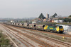 70014 passes Severn Tunnel Junction with 4F56, 1042 Fifoots Power Station to Stoke Gifford on 23rd March 2012.
