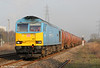 Now fully overhauled, 60074 'Teenage Spirit' is seen at Margam with 6B13, 0505 Robeston to Westerleigh on 1st March 2012.