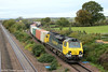 70009 passes Llandevenny with 4059, 1044 Wentloog to Southampton Maritime on 9th November 2013.