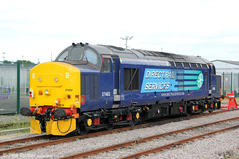 Recently overhauled 37402 stabled at York Parcels Siding on 30th June 2013.