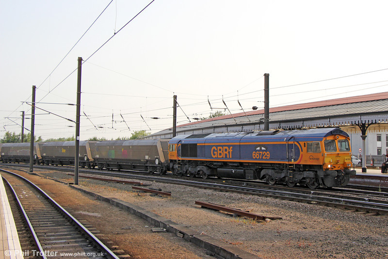 66729 'Derby County' at York with 6Y99, 0500 Tyne Dock to Ferrybridge on 6th July 2013.