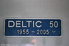 Nameplate of 43367 'Deltic 50' at York on 5th July 2013.