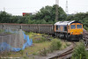 66708 'Jayne' waits to leave Newport ADJ with 6M74, 2219 Cardiff Tidal to Beeston Sims Mcintyre on 26th June 2013.