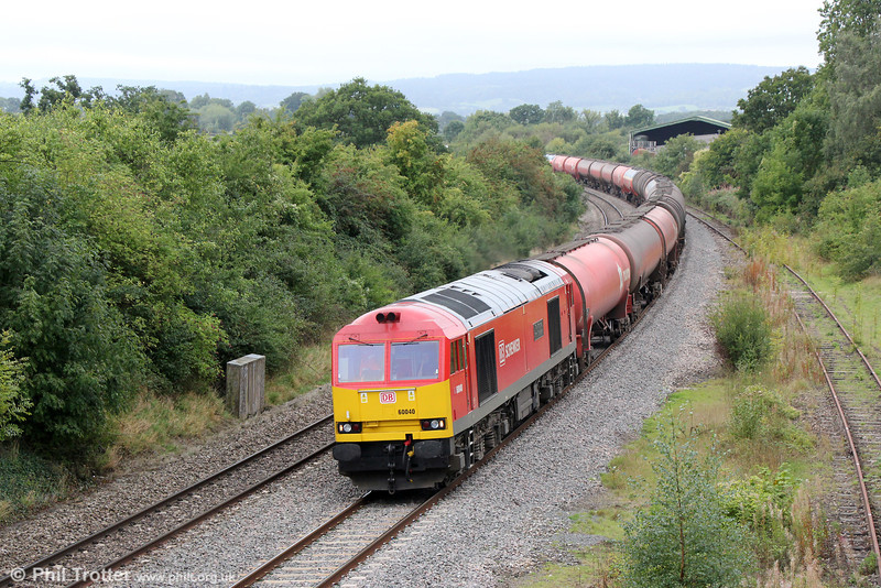 60040 'Territorial Army Centenary' passes Grange Court with 6B13, 0504 Robeston to Westerleigh Murco on 21st September 2013.