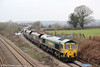 66529 is seen at Llandevenny with 4V20, 0800 Fiddlers Ferry Power Station to Stoke Gifford on 23rd March 2013.