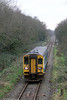 153312 leaves Pontarddulais forming 2M57, 1315 Swansea to Shrewsbury on 7th January 2013.