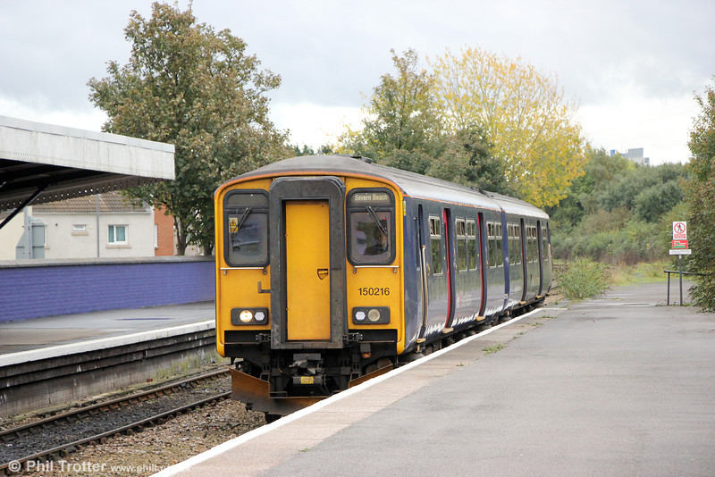 150216 call at Avonmouth forming 2K18, 1116 Bristol Temple Meads to Severn Beach on 26th October 2013.