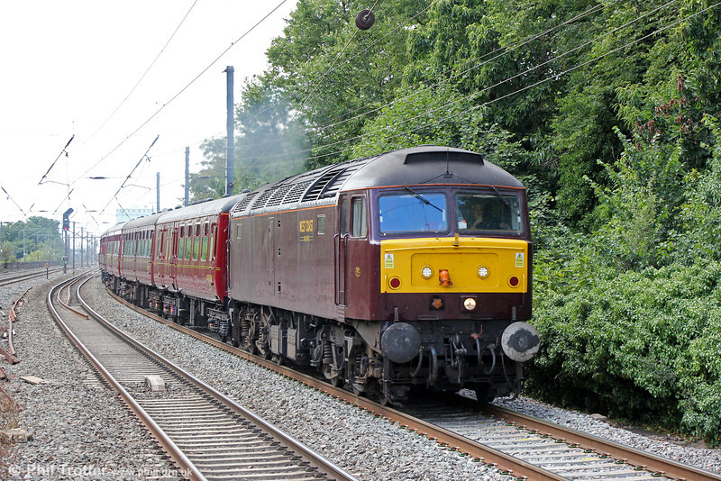 WCRC 47237 passes Hanwell with 5Z81, 1305 Southall to Bristol Kingsland Road on 10th August 2013.