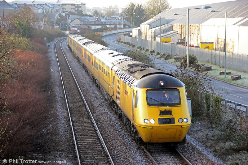 Making the first visit of the NMT to the area in 2013, 43062 'John Armitt' passes Melincryddan with 1Z20, 0554 Old Oak Common to Swansea on a frosty 11th January 2013.