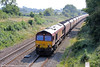 66055 near Haresfield with 6M87, 1355 Avonmouth to Ratcliffe Power Station on 26th August, 2013.