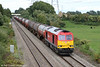60092 at Portskewett with the diverted 6B33, 1142 Theale Murco to Margam on 21st September 2013.