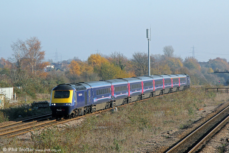 43135 passes Severn Tunnel Junction with 1B20, 0945 London Paddington to Swansea on 23rd November 2013.