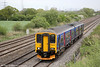 150249 passes Coedkernew forming 2U06, 0737 Weston super Mare to Cardiff Central on 10th May 2013.