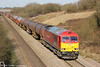 60017 climbs Stormy Bank with 6B13, 0507 Robeston to Westerleigh on 6th April 2013.