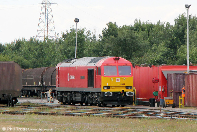 60062 'Stainless Pioneer' stabled at Margam Yard on 20th July 2013.