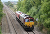 66201 and 66185 at Oakle Street running as 0Z98, Margam to Bescot on 21st September 2013.