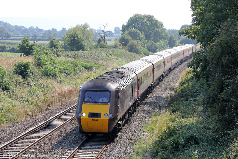 43301 near Haresfield with 1S51, 1224 Plymouth to Glasgow Central on 26th August 2013.