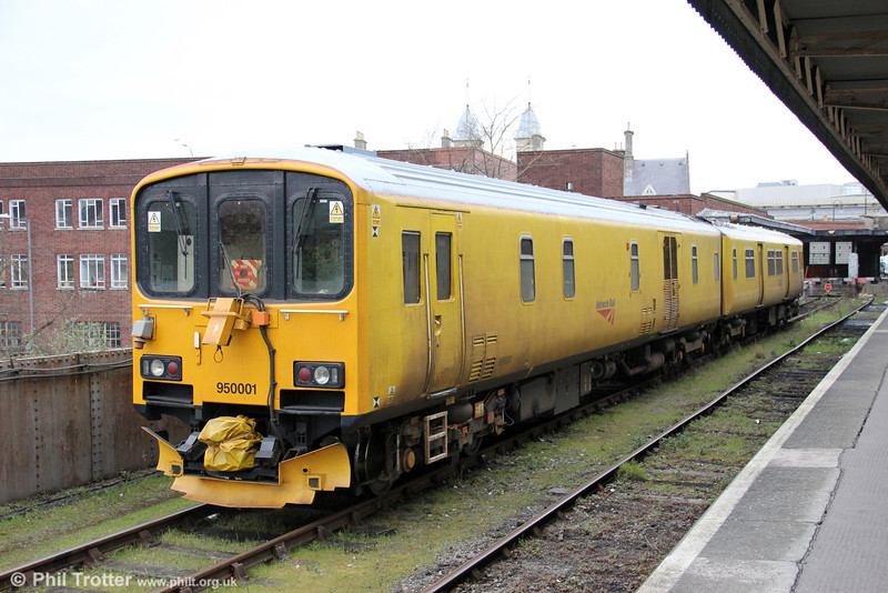 NR 950001 stabled at Bristol Temple Meads on 25th March 2013.