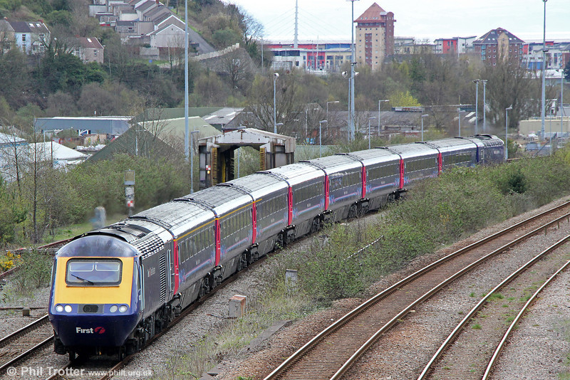 43182 departs from Swansea with 1L66, 1328 Swansea to London Paddington on 27th April 2013.