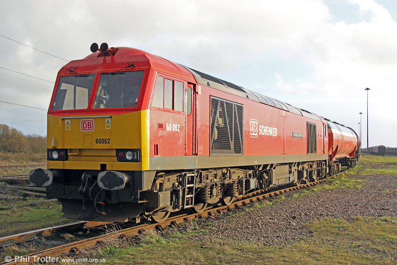 60062 'Stainless Pioneer' at Margam Knuckle Yard, ready to form 6B10, 0127 to Robeston on 22nd December 2013.