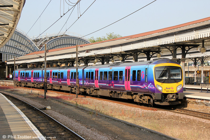 FTPE 185104 at York forming 1P55 1615 Newcastle to Manchester Piccadilly on 5th July 2013.