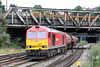 60091 is seen at Newport with 6B13, 0504 Robeston to Westerleigh on 17th August 2013.