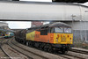 Colas 56094 at Newport with 6F03, 0933 Llanwern to Newport Docks on 18th March 2013.
