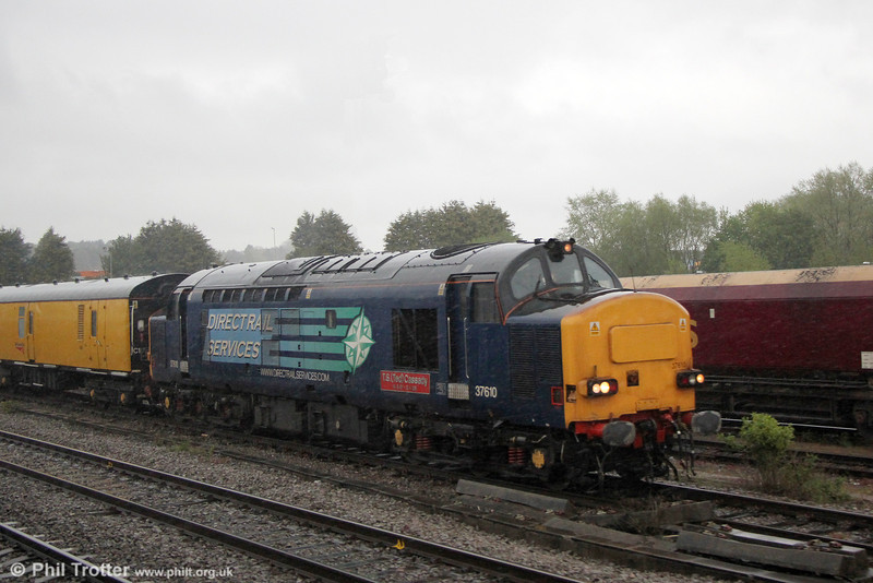 DRS 37610 'T.S. (Ted) Cassady' at Newport ADJ with 1Z14, 1250 from Derby RTC on 14th May 2013.