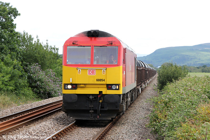 60054 at Llangennech with  6B11, 0852 Margam to Trostre on 21st July 2013.