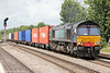 DRS 66418 at Leamington Spa with Freightliner's 4O02, 1111 Lawley Street to Southampton Maritime on 15th June 2013.