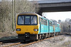 143624 passes under the M4 at Gelynis with 2T40, 1636 Cardiff Central to Treherbert on 6th April 2013.