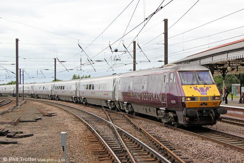 Flying Scotsman liveried DVT 82205 at York leading 1E18, 1400 Edinburgh to London Kings Cross on 3rd July 2013.