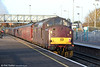 WCRC 37516 'Loch Laidon' at Severn Tunnel Junction, bringing up the rear of the Railway Touring Company's 1Z87, 0730 Bristol Temple Meads to Crewe, 'The Christmas Cheshireman' on 30th November 2013.