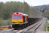 60059 'Swinden Dalesman' brings up the rear of 6B61, 1105 Trostre to Margam at Gowerton on 5th May 2013.