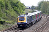 1B20, the 0943 London Paddington to Swansea passes East Usk on 10th May 2013.