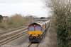 66056 passes Magor with the lengthy 6V67, 0336 Redcar to Margam coke on 16th March 2013.
