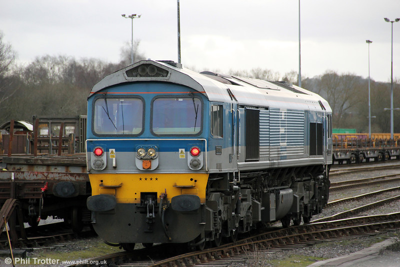 59004 'Paul A Hammond' at Westbury, ready to take over 7C77, 1240 Acton to Merehead Quarry on 5th February 2013.