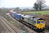 66541 passes Llandevenny with 4O59, 1044 Wentloog to Southampton on 23rd March 2013.