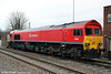 Recently repainted 59202 stabled at Westbury on 5th February 2013.