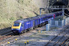 43164 leaves Newport Tunnel with 1B10, 0742 London Paddington to Swansea on 6th April 2013.