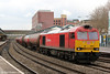 60010 passes through Newport with 6B25, 1049 Westerleigh to Robeston on 18th March 2013.